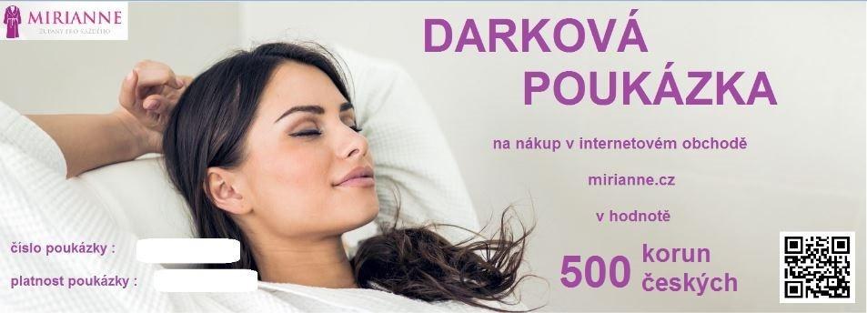 Dárková poukázka MIRIANNE - 500,-Kč