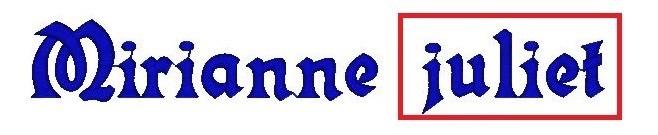 Monogram - výšivka - písmo - JULIET