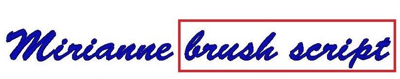 Monogram - výšivka - písmo - BRUSH