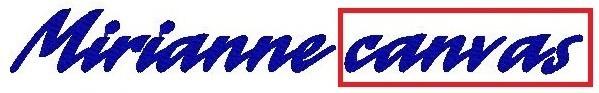 Monogram - výšivka - písmo - CANVAS