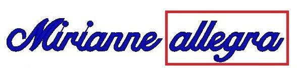 Monogram - výšivka - písmo - ALLEGRA