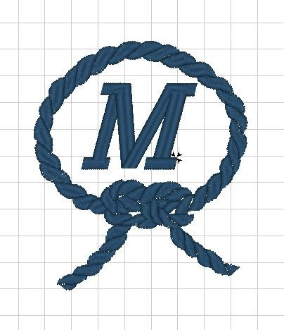 Monogram - výšivka - rámeček - LANO