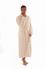 AUSTIN pánský bambusový župan se šálovým límcem KRÉMOVÝ č.1