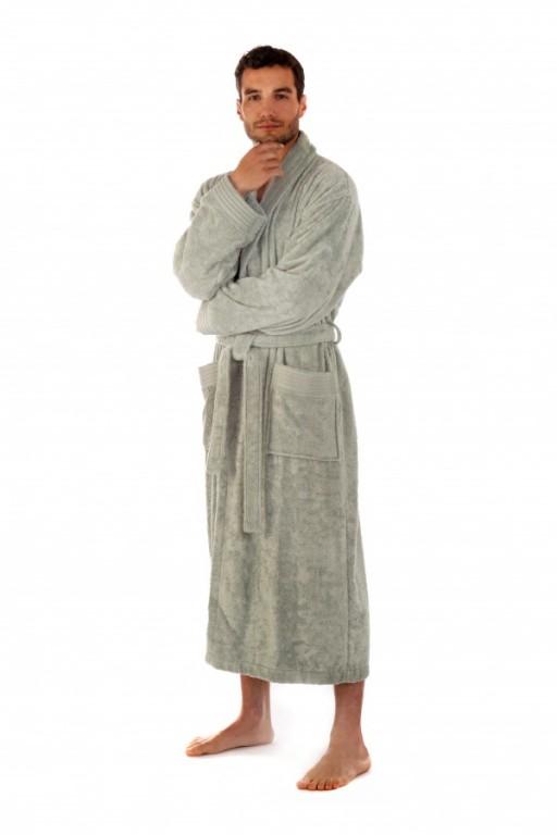 AUSTIN pánský bambusový župan se šálovým límcem OLIVOVÝ