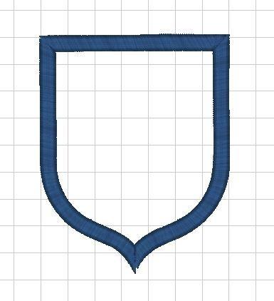 Monogram - výšivka - rámeček - ERB špičatý
