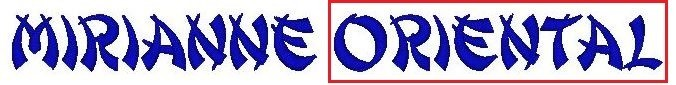Monogram - výšivka - písmo - ORIENTAL
